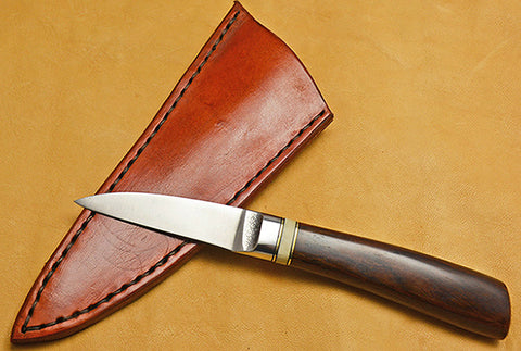 2.5 inch Boye/Loveless Persona with Plain Etched Blade and Cocobolo Handle.
