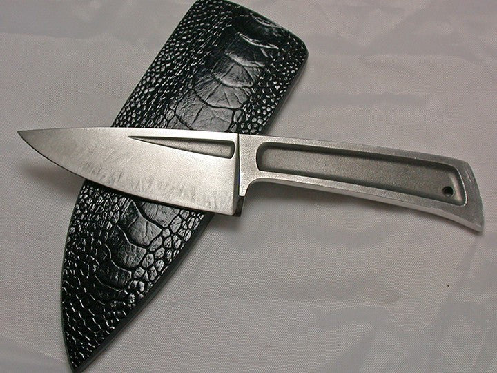 Boye Basic 3 with Plain Etched Blade & Black Ostrich Sheath.