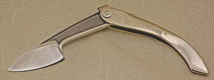 Boye Large Tweezerlock Folding Pocket Knife with Plain Etched Blade - 11.