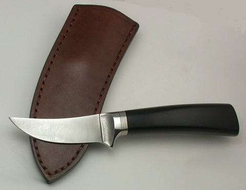 3 inch Trailing Point Skinner with Plain Etched Blade.