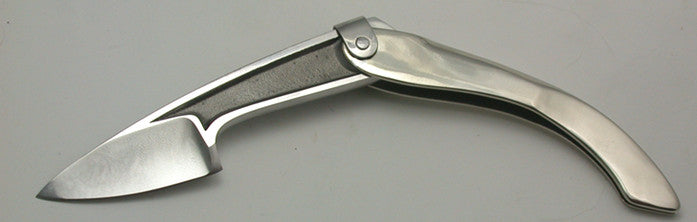 Boye Large Tweezerlock Folder with Plain Etched Blade.