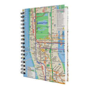 Recycled Subway Map Journal
