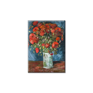 van Gogh - Vase with Poppies Magnet