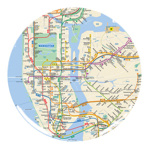 Subway Map Melamine Plate 4-Pack