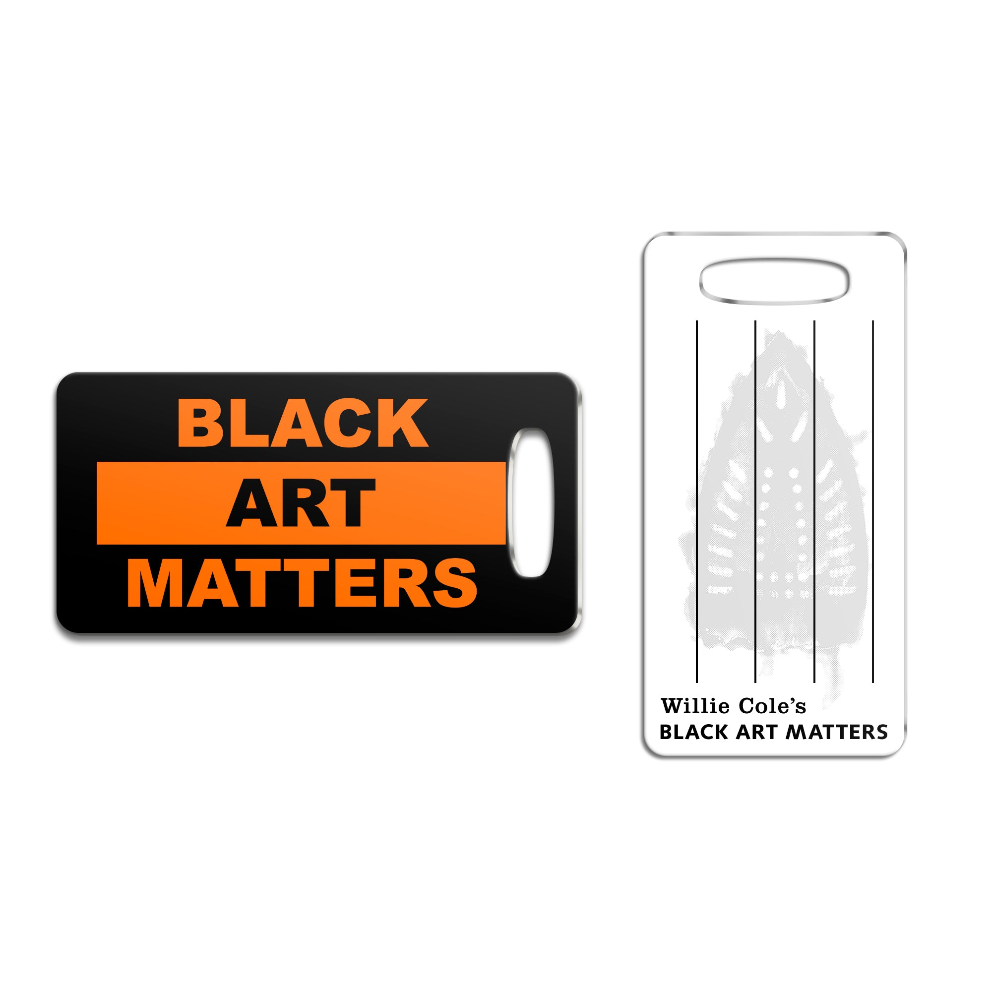Willie Cole Black Art Matters Luggage Tag