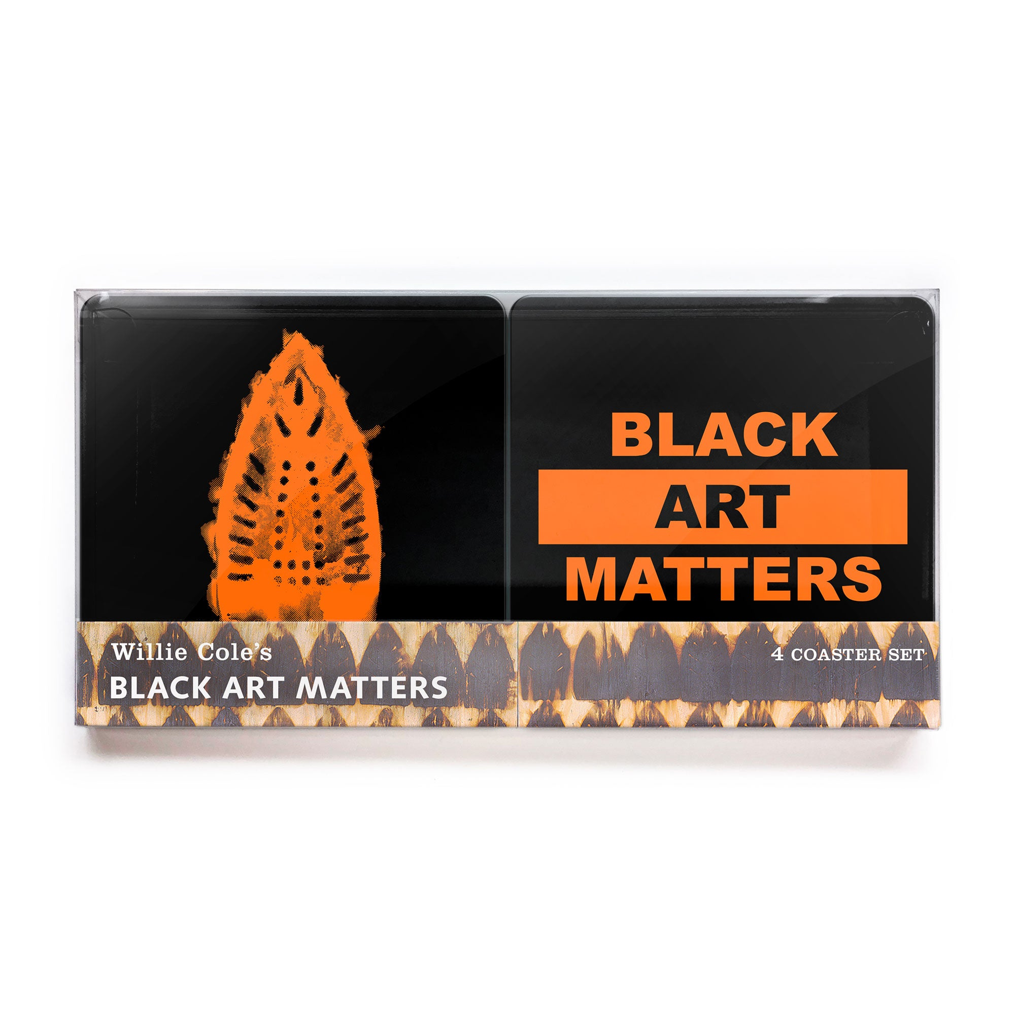 Willie Cole Black Art Matters Coaster 4-pack