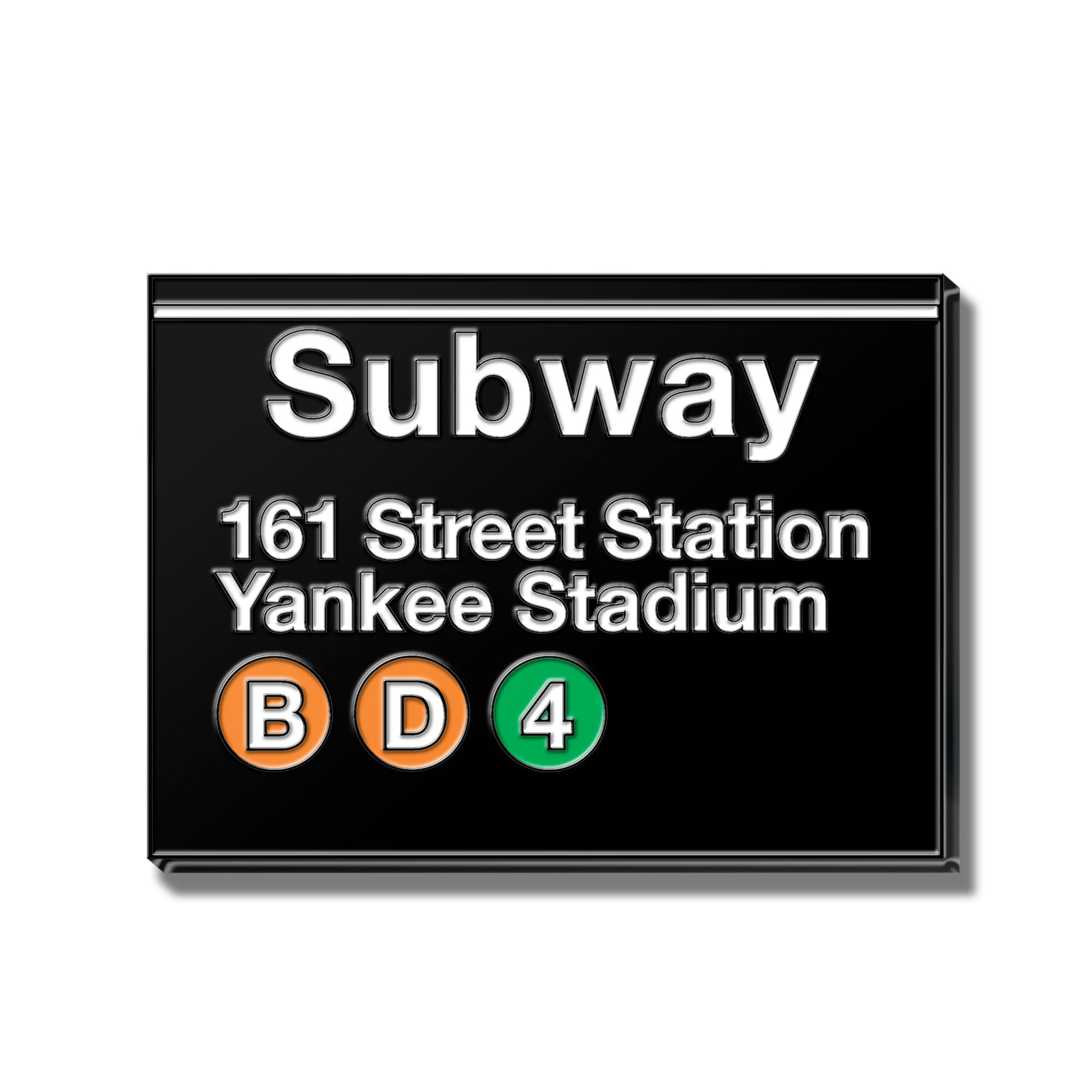 Yankee Stadium Subway Sign Enamel Pin