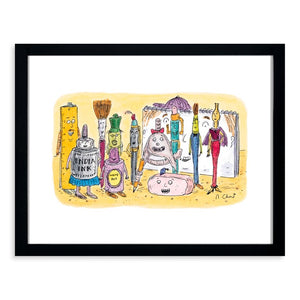 Chast - Artist's Equipment Comes to Life 11x14 Framed Print