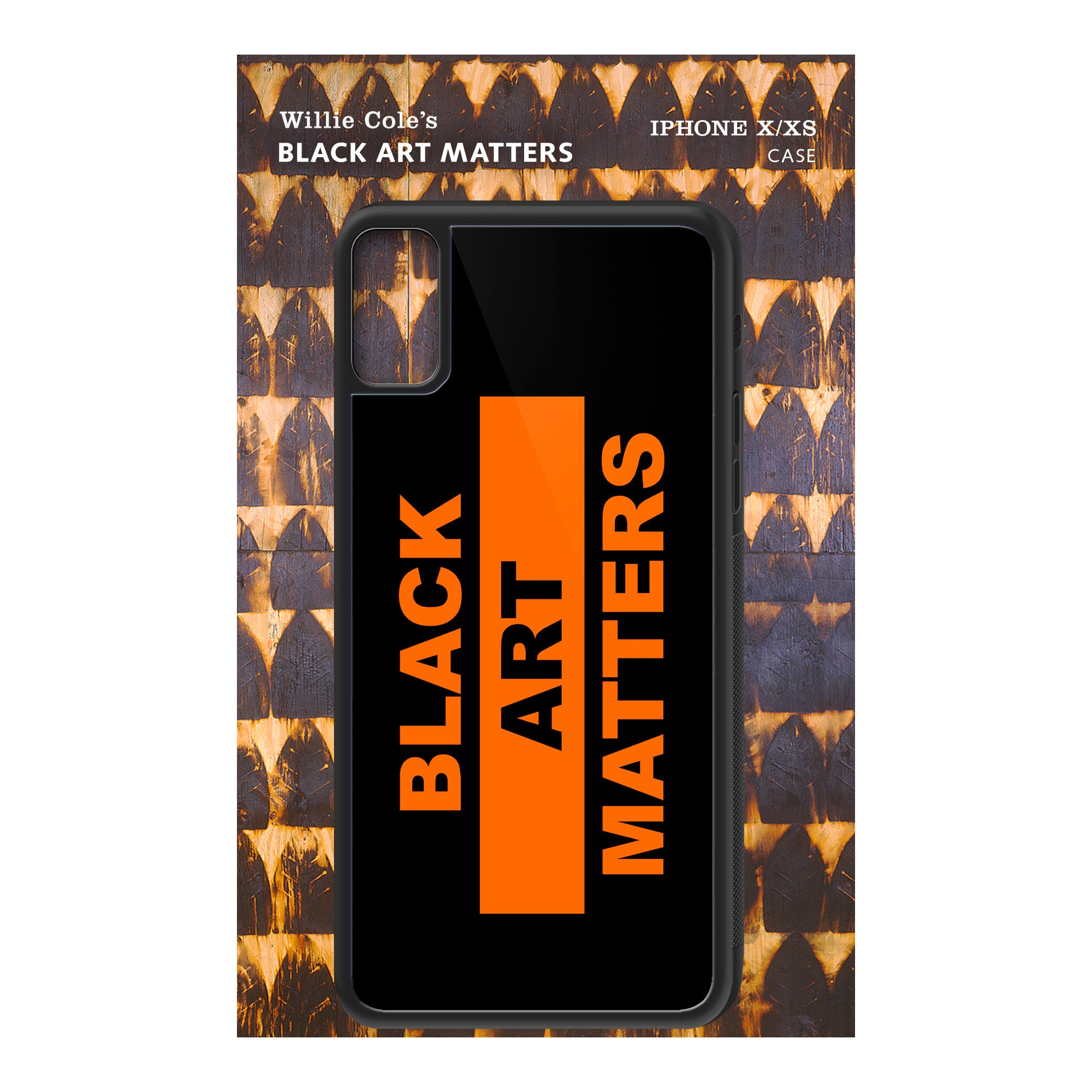 Willie Cole Black Art Matters iPhone Case