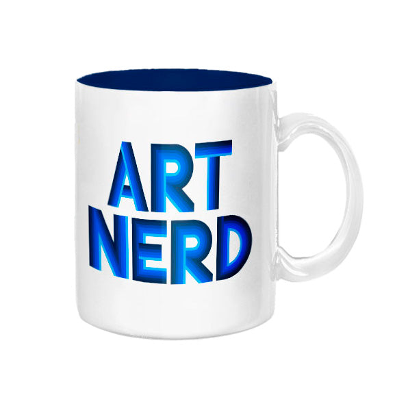 Art Nerd Blue Deco Mug