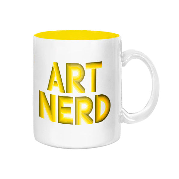 Art Nerd Yellow Deco Mug