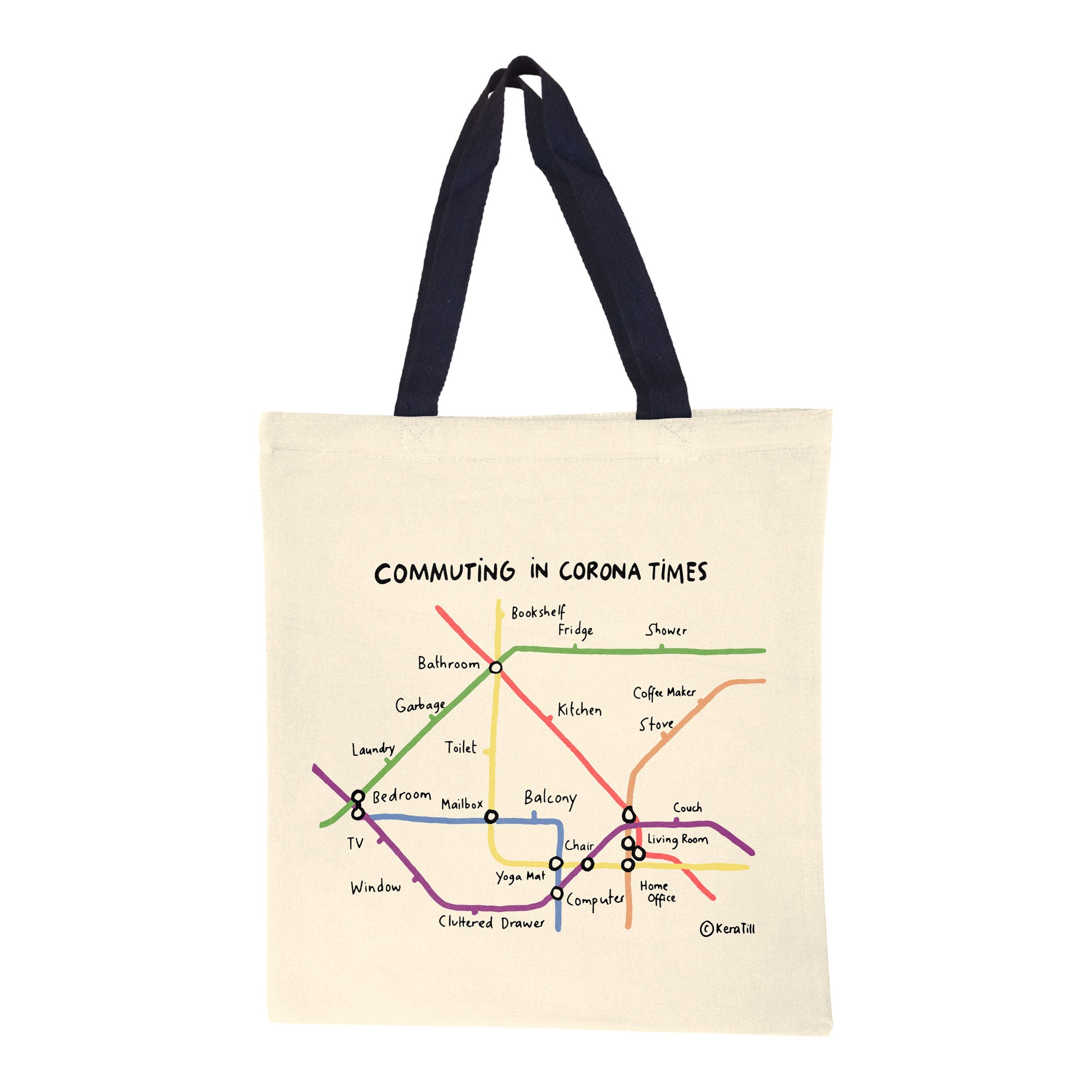 Commuting in Corona Times Canvas Tote