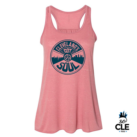 Cleveland's Got Soul Ladies Tank Top (Pink)