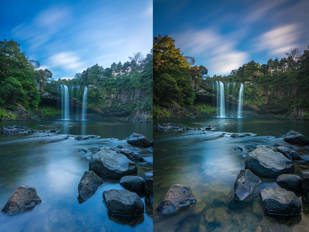 waterfall polariser before after