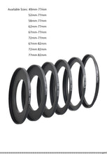 Load image into Gallery viewer, Adapter rings for K9 holder (49mm-72mm)