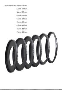 Adapter rings for K9 holder (49mm-72mm)
