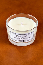 Load image into Gallery viewer, Bergamot & Ginger scented soy wax candle