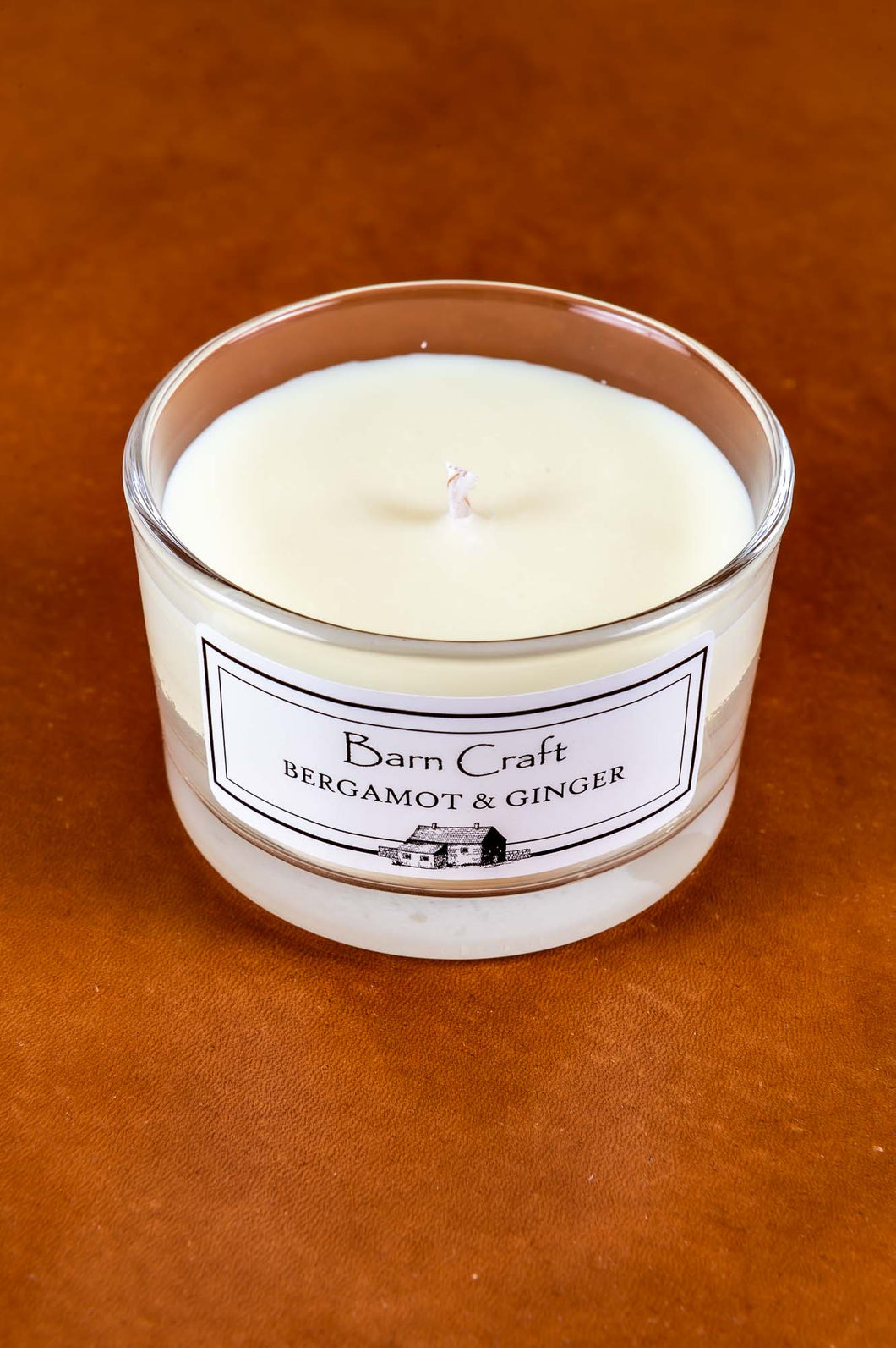Bergamot & Ginger scented soy wax candle