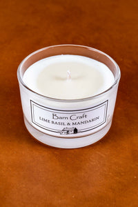 Lime Basil & Mandarin scented soy wax candle