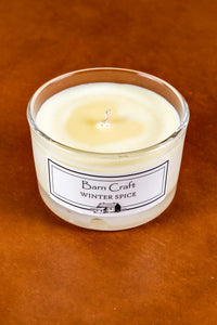 Winter Spice scented soy wax candle
