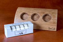 Load image into Gallery viewer, Oak Barn Craft tea light holder with a set of tea lights - top