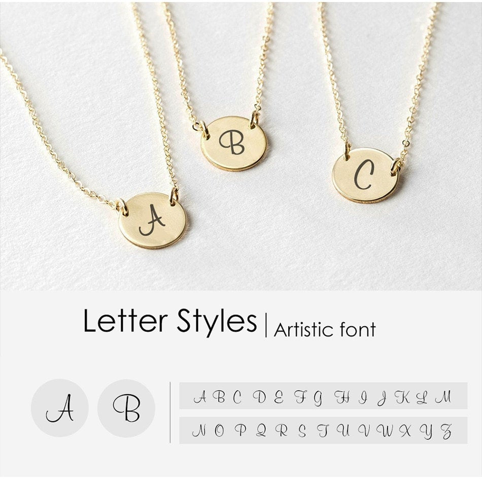 SLEEK ARTISTIC SCRIPT INITIAL NECKLACE - Ora Gift