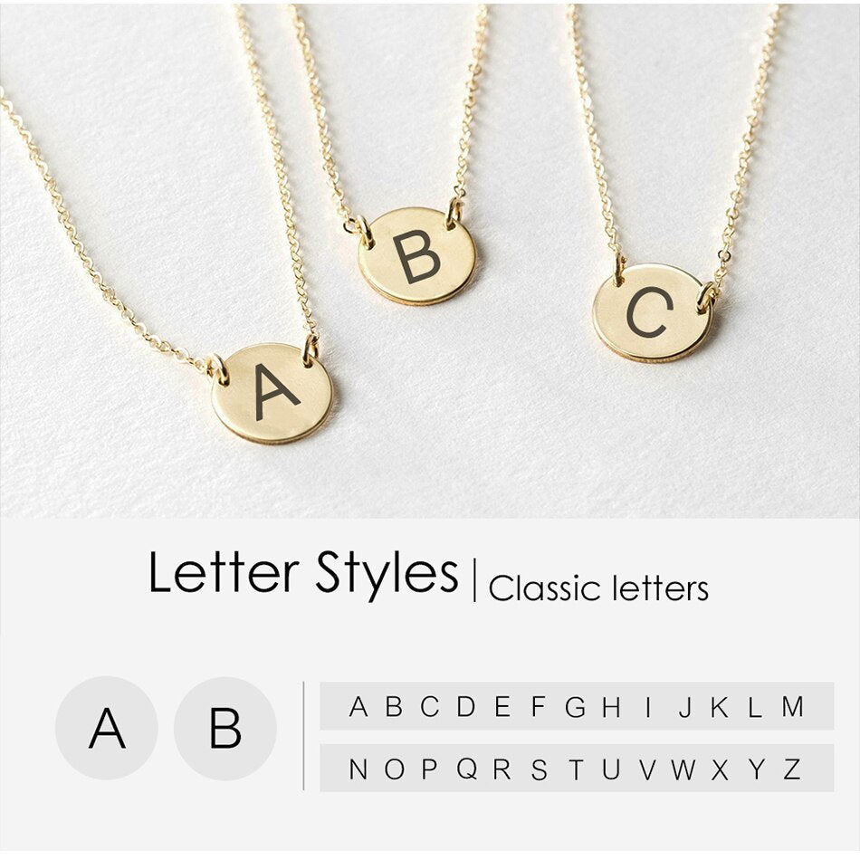 CLASSIC SCRIPT INITIAL LETTER GOLD NECKLACE - Ora Gift