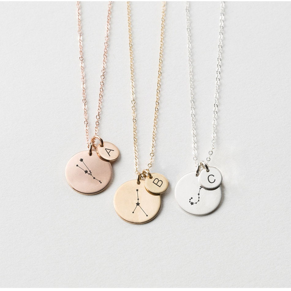 UNIQUE TWO COINS PERSONALIZED SIGN NECKLACE - Ora Gift