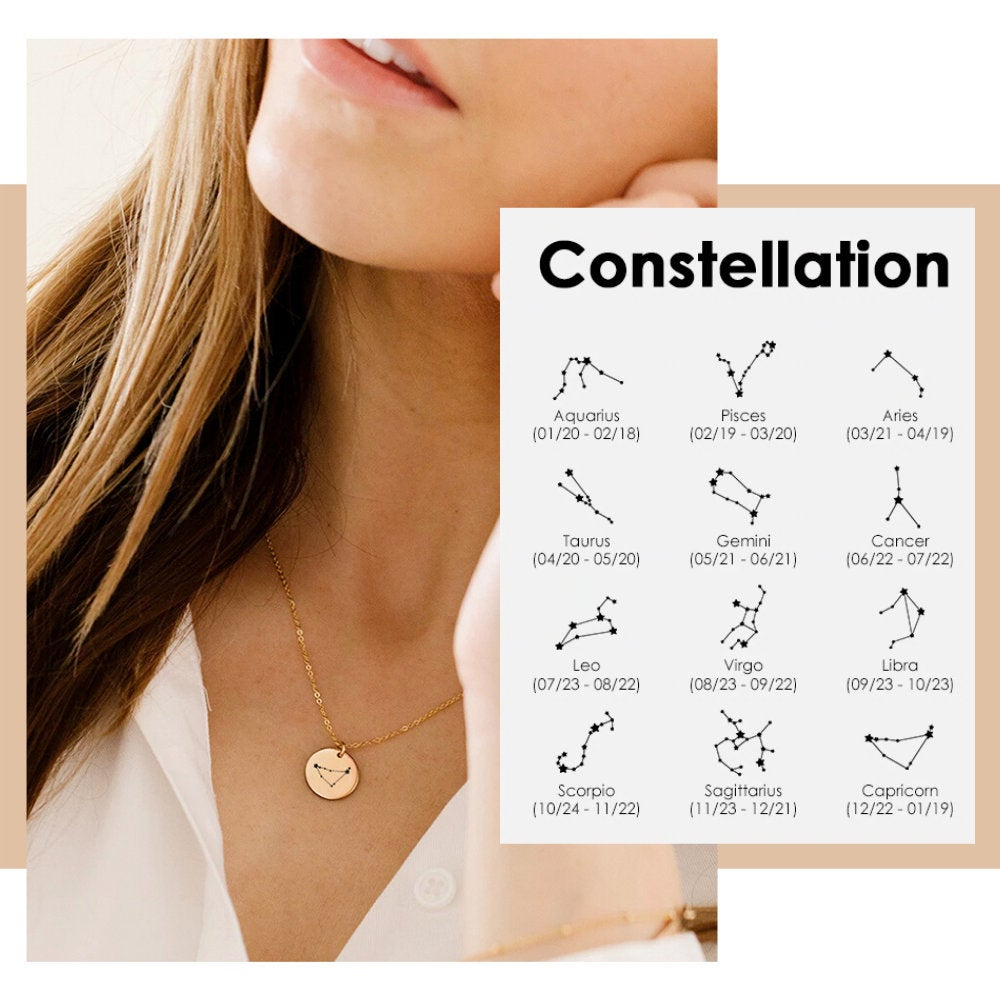 ELEGANT ZODIAC SIGN NECKLACE - Ora Gift