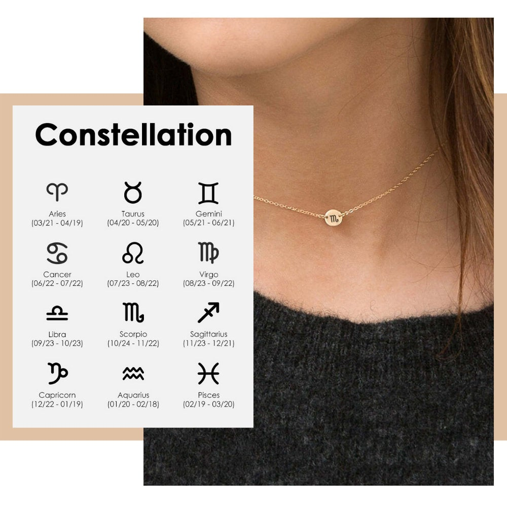 CUSTOM ZODIAC CONSTELLATION NECKLACE - Ora Gift