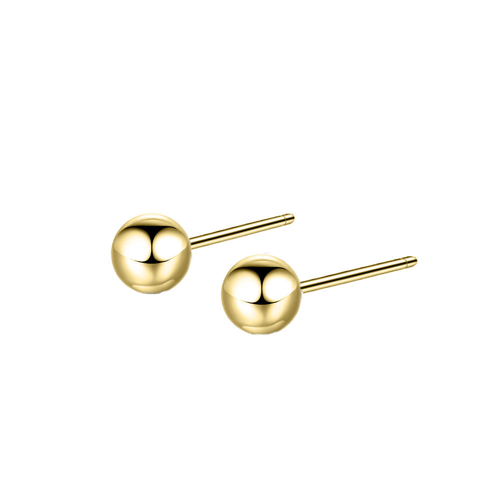 ELEGANT GOLD BALL EARRINGS - Ora Gift