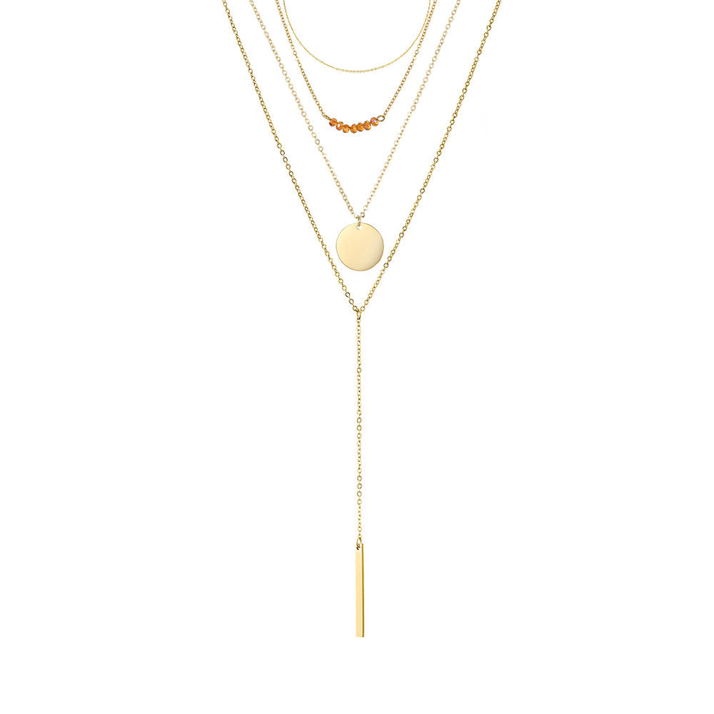 CHARMING MULTI LAYERED GOLD NECKLACE SET - Ora Gift