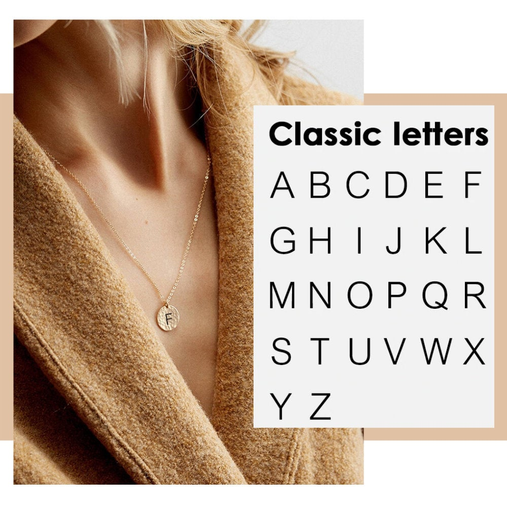 CLASSIC LETTER NECKLACE - Ora Gift
