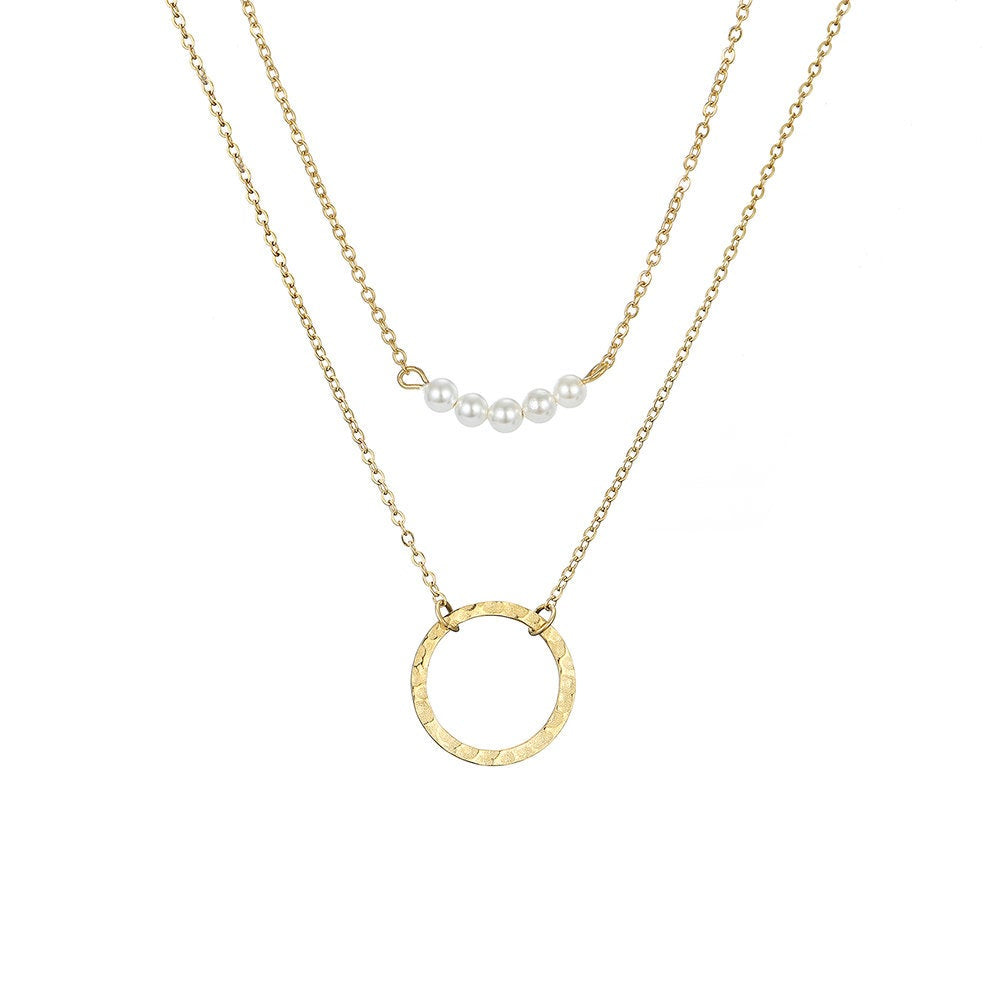 DAINTY CRYSTAL GOLD PLATED NECKLACE SET - Ora Gift