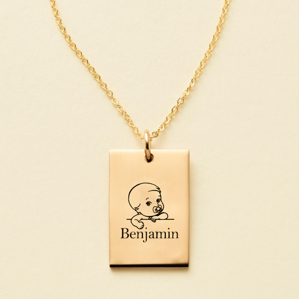 MY BABY ENGRAVED NAME NECKLACE