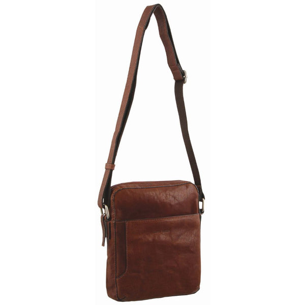 Pierre Cardin Rustic Leather Cross Body/Tablet Bag (PC2795)