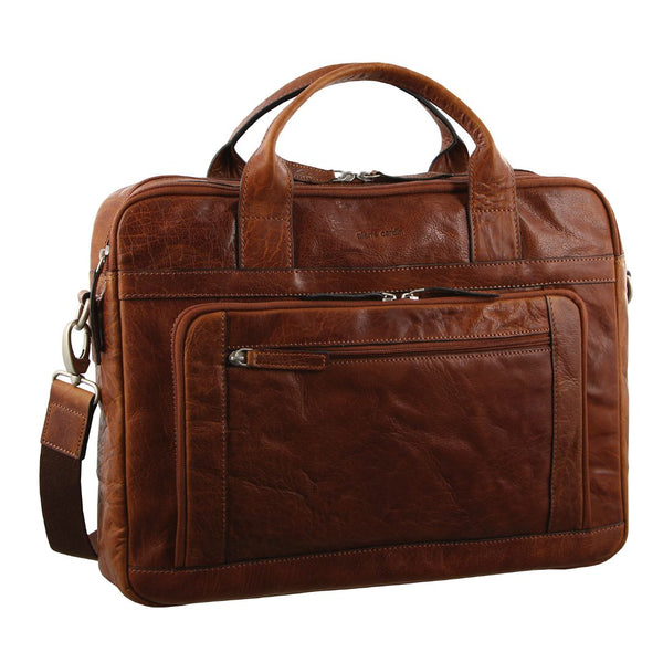 Pierre Cardin Rustic Leather Computer/Business Bag (PC2797)