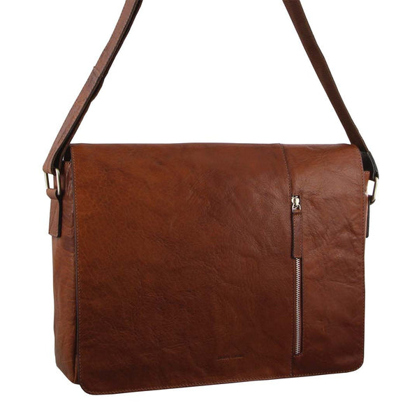 Pierre Cardin Rustic Leather Computer/Messenger Bag (PC2798)