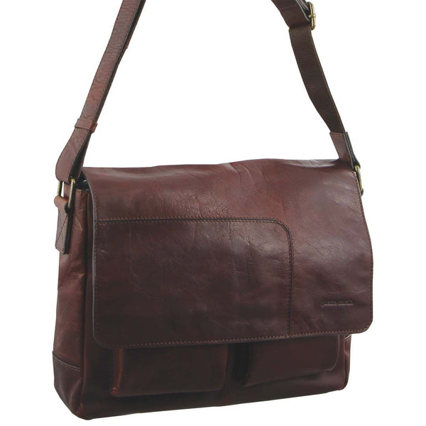 Pierre Cardin Rustic Leather Computer/Messenger Bag (PC2805)