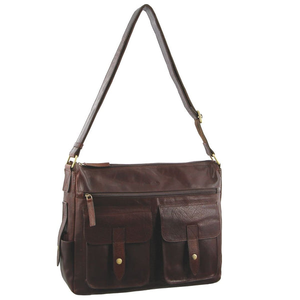 Pierre Cardin Rustic Leather Computer Bag/Satchel (PC2806)