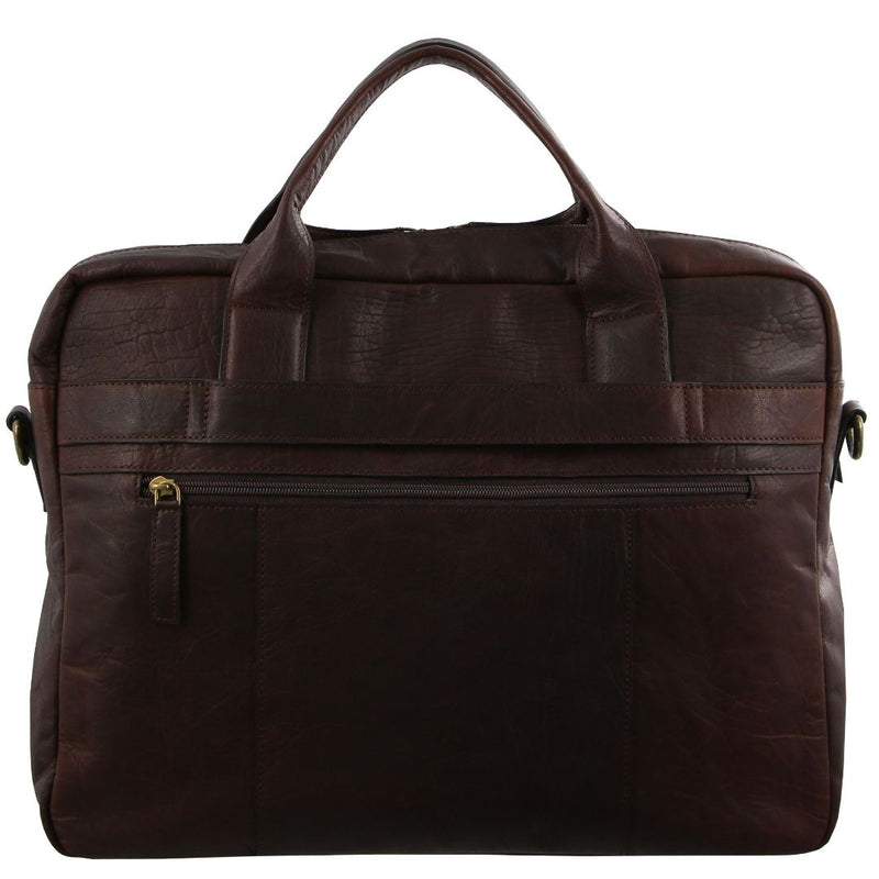 Pierre Cardin Rustic Leather Computer Bag (PC2807)