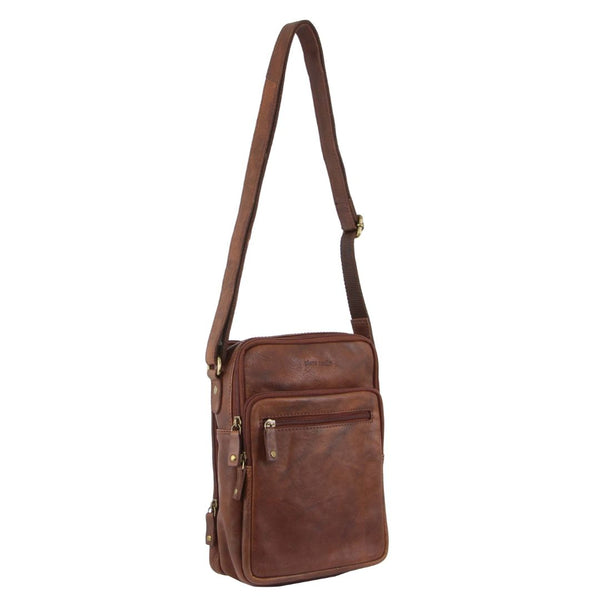 Pierre Cardin Rustic Leather Cross-Body Bag (PC3130)