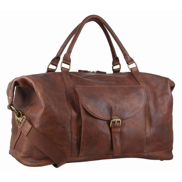 Pierre Cardin Rustic Leather Business/Overnight Bag (PC3134)