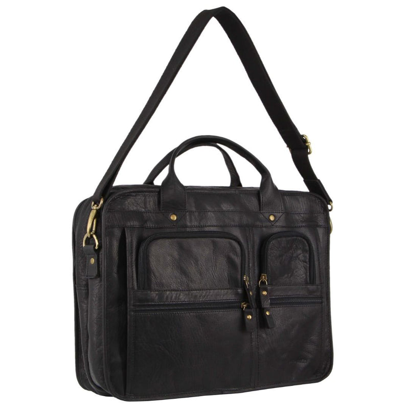 Pierre Cardin Rustic Leather Computer Bag (PC3135)