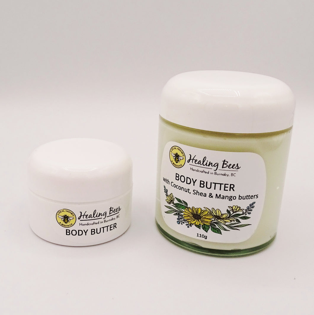 body butter for dry skin by healing bees. this is the best cream for dry skin, healing and nourishing with natural ingredients
