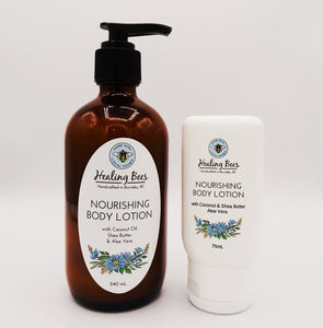 natural lotion to relive dry itchy skin with vitamins and natural oils and honey