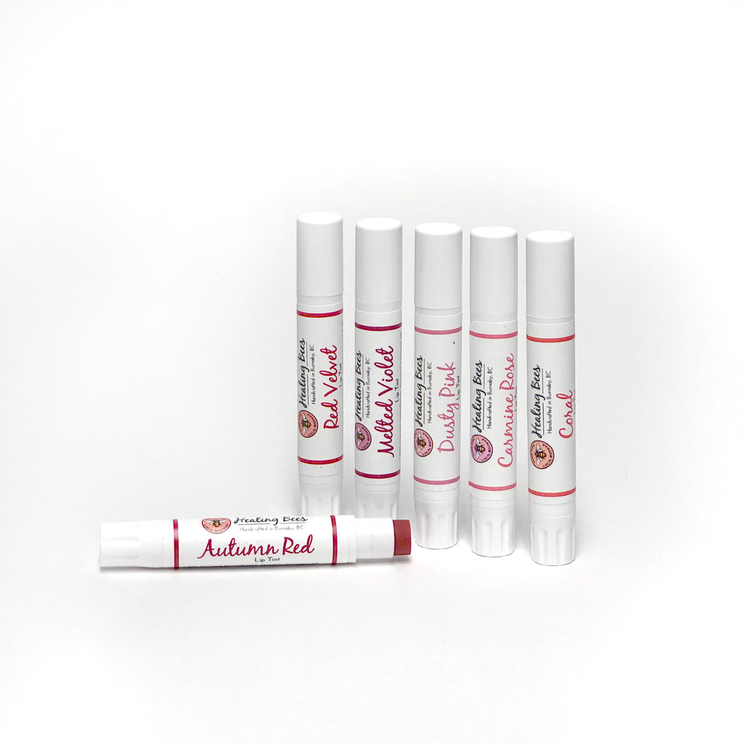 ​Add some colour to your lips while moisturizing.  All the ingredients used in our lip tints are food grade, therefore they are literally edible!