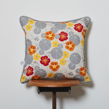 Load image into Gallery viewer, Nasturtium and Black-Eyed Susan Cushion