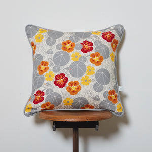 Nasturtium and Black-Eyed Susan Cushion