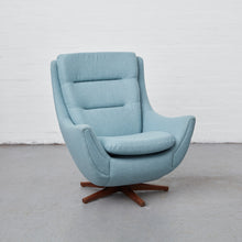 Load image into Gallery viewer, Reloved Vintage Parker Knoll chair model number 110/111. Restored at the Reloved Studio by Simion Hawtin-Smith with Kirkby Leaf fabric.